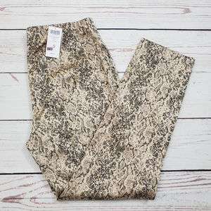 Chico's Ultimate Gold Pyton Jacquard Trouser NWT